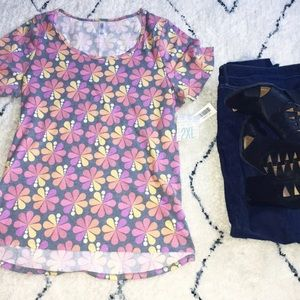 Floral Classic T 💗💛💜